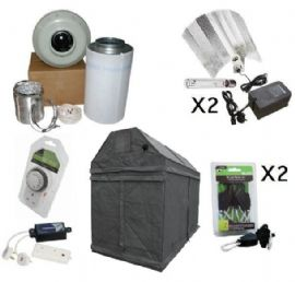 600w HPS 2.4m x 1.2m Premium LOFT or SHED Grow Tent Kits